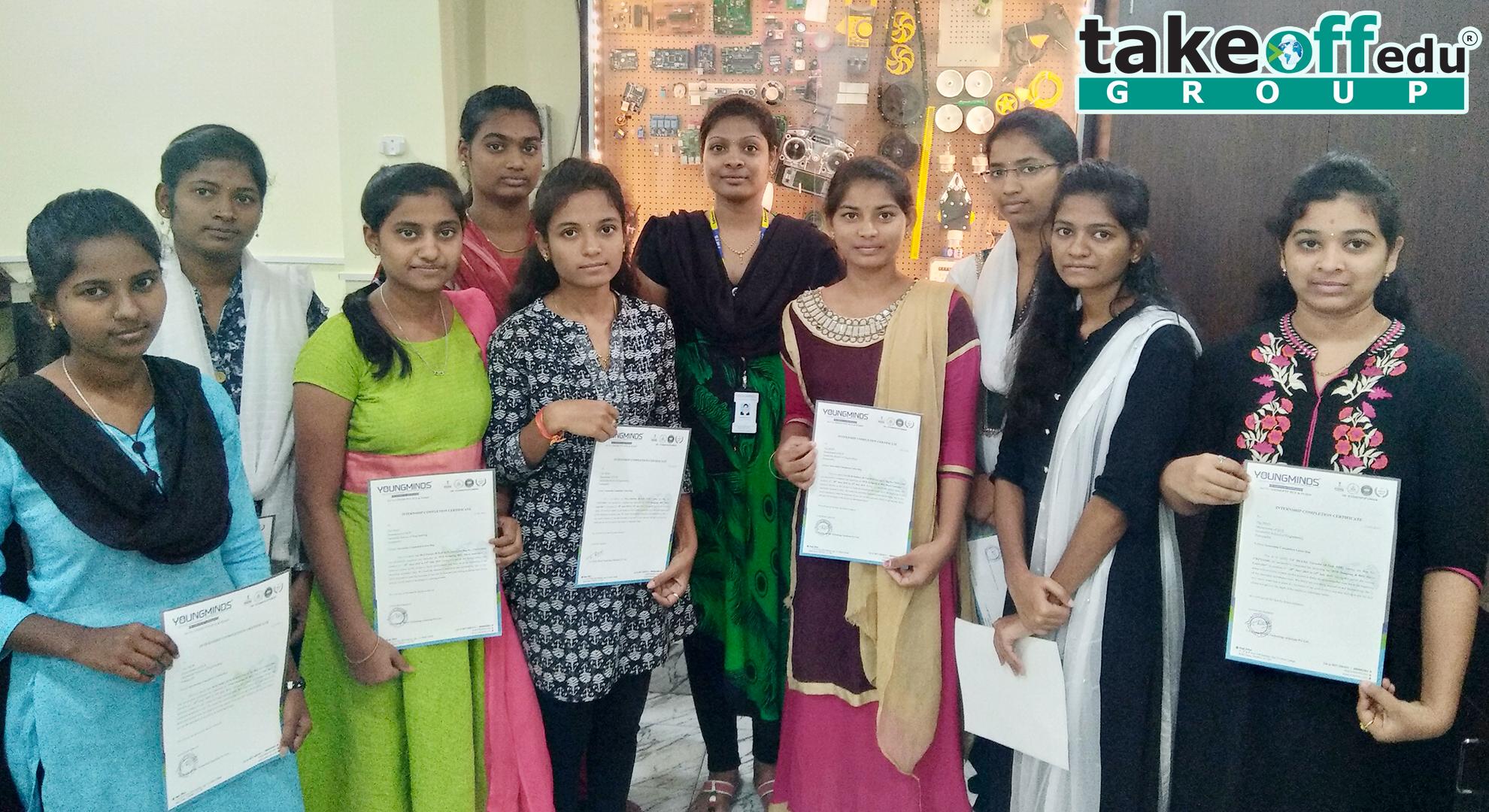Internships , Embedded Internship Certificate Distribution