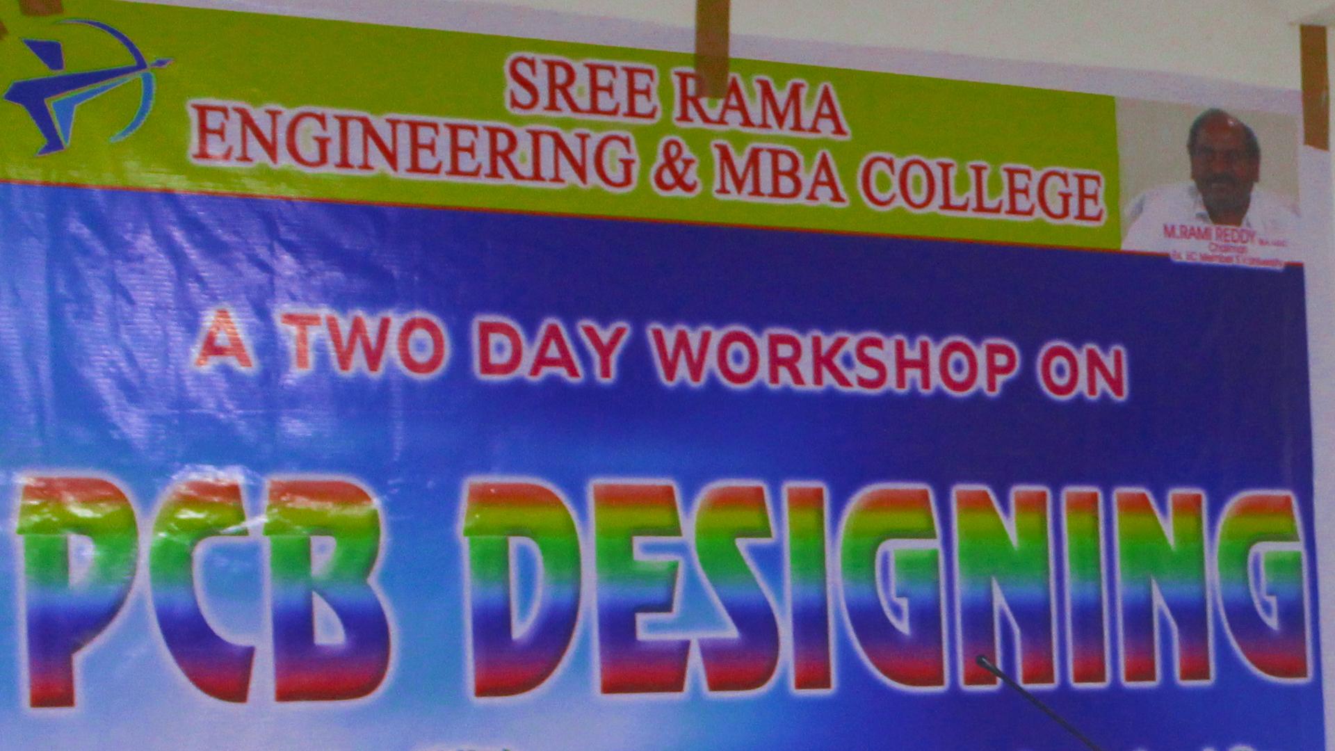 Sree Rama College of Education, Tirupati , PCB Designing