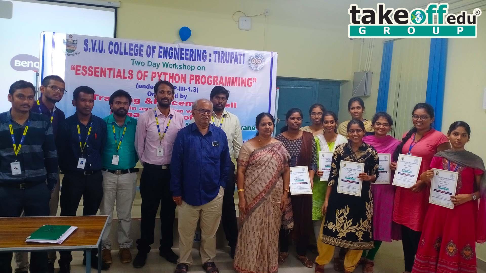 SVU - Sri Venkateswara University, Tirupati , Python