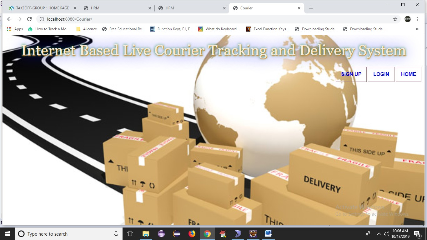 Internet Based Live Courier Tracking and Delivery System