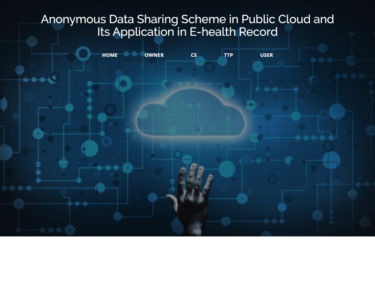 Anonymous Data Sharing Scheme In Public Cloud And Its Application In E-health Record