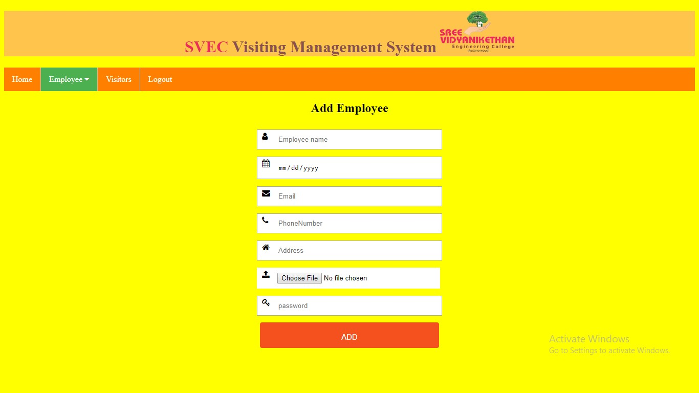 Visiting Management system