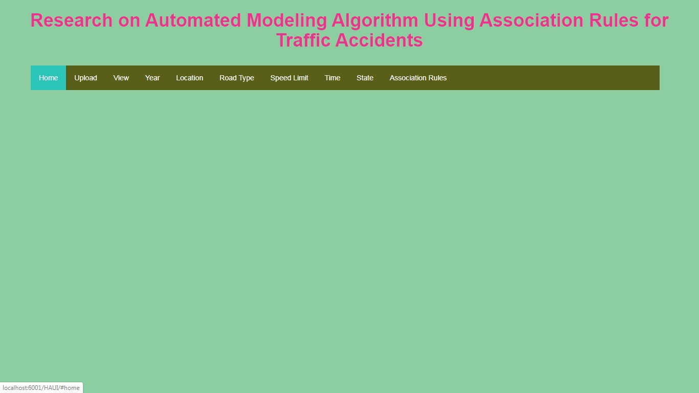 Research on Automated Modeling Algorithm Using Association Rules for Traffic Accidents