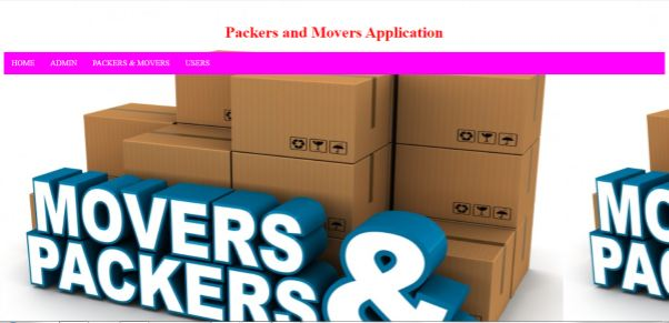 Packers & Movers Application
