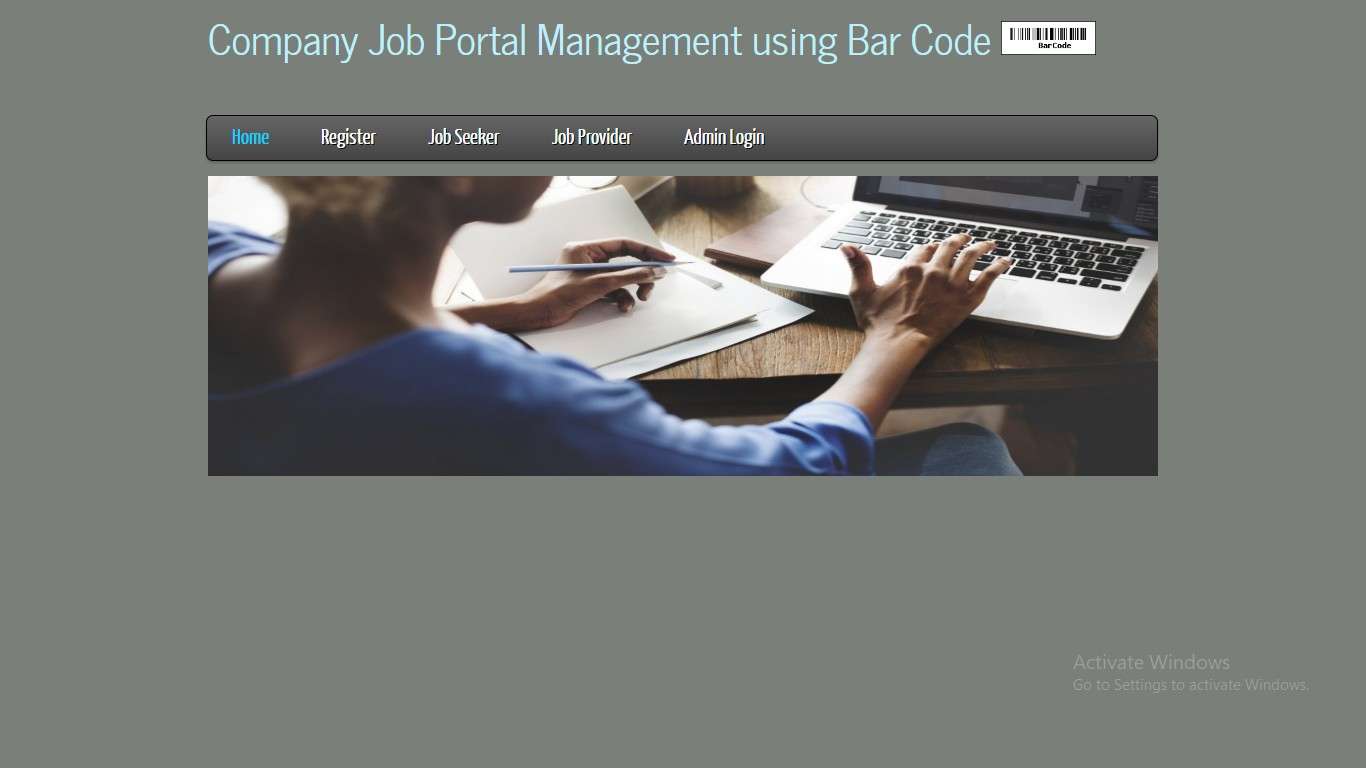 Company Job Portal Management using Bar Code
