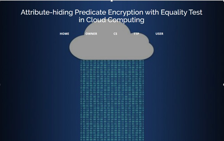 Attribute-hiding Predicate Encryption With Equality Test In Cloud Computing