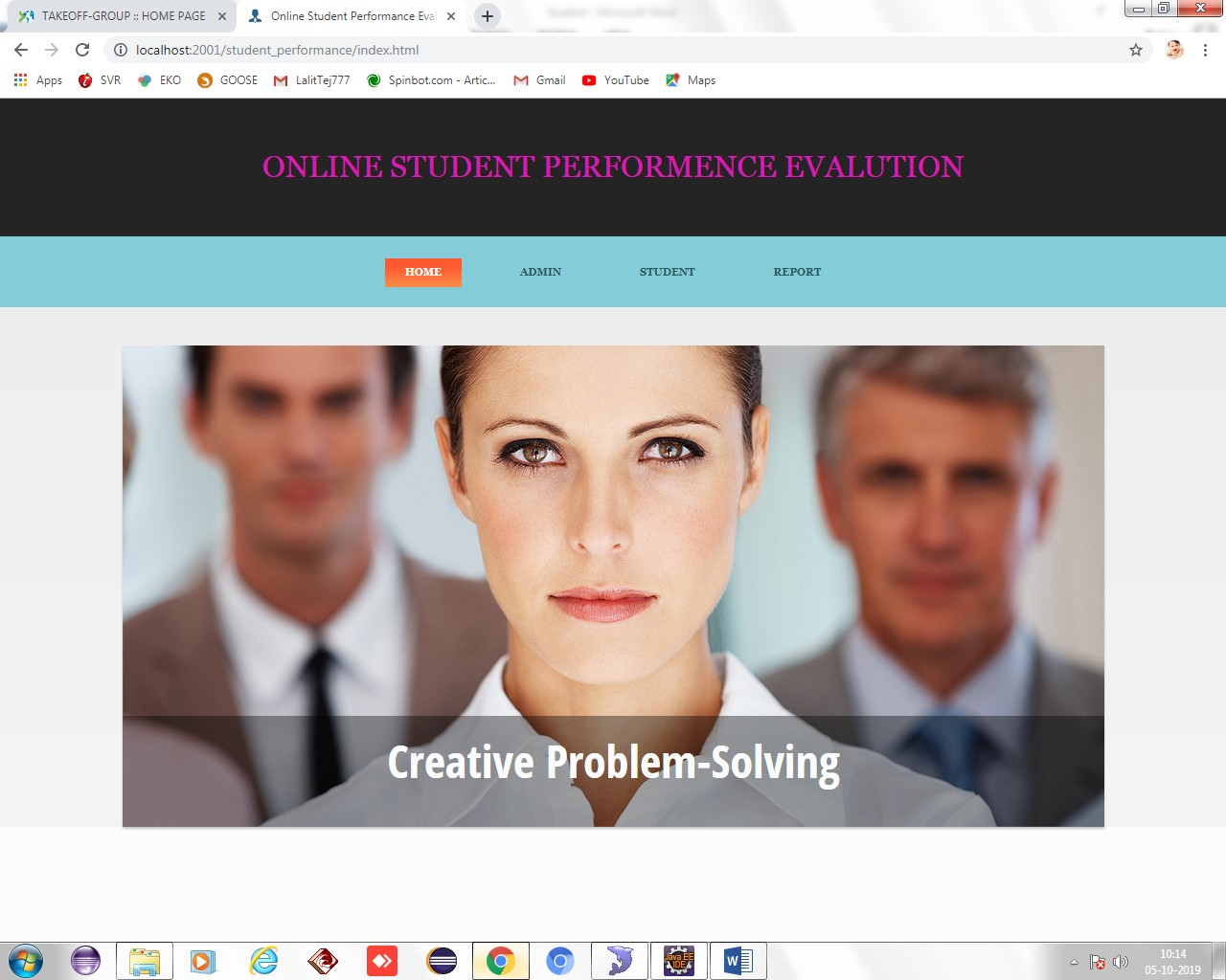 Online Student Performance Evaluation System